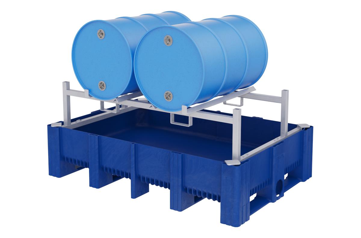 Spill Containment - 2 horizontal מאצרה לחבית שוכבת